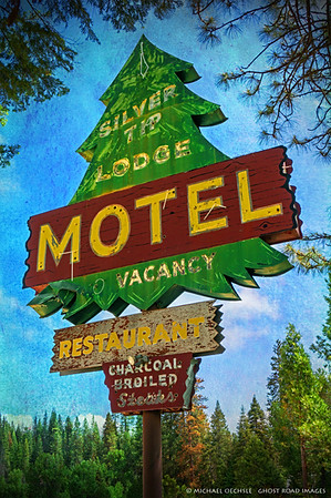 Motel Sign, Fish Camp, California