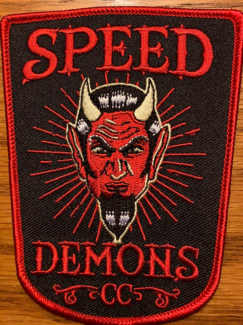 speed demons car club patch