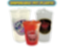 Custom Printed Disposable PET Plastic Cups