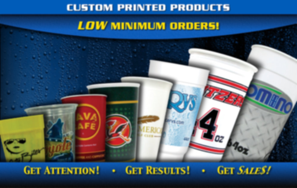 Custom Printed Products Low Minimum Orders!