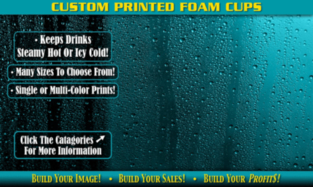 Custom Printed Foam Cups Background
