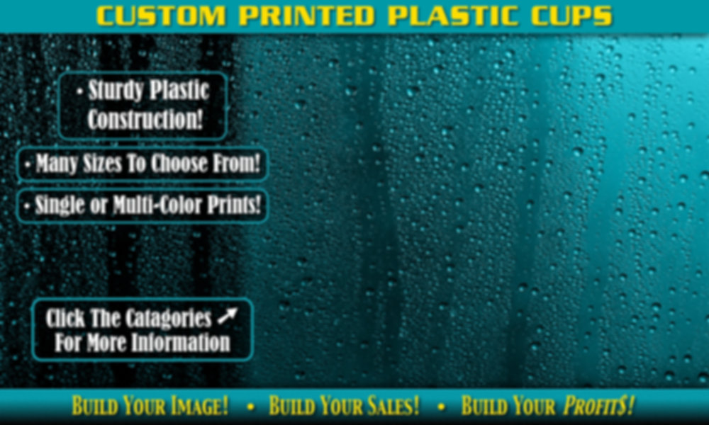Custom Printed Plastic Cups Background