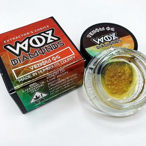 WOX Diamonds Venom OG 1g (72.18% THC)