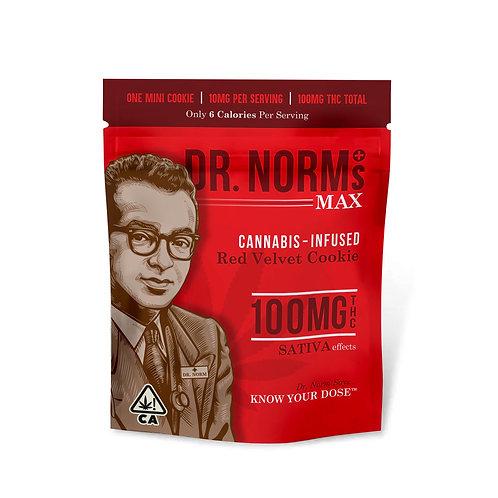 Dr. Norm's Max Mini Cookie Red Velvet (Sativa) 100mg THC