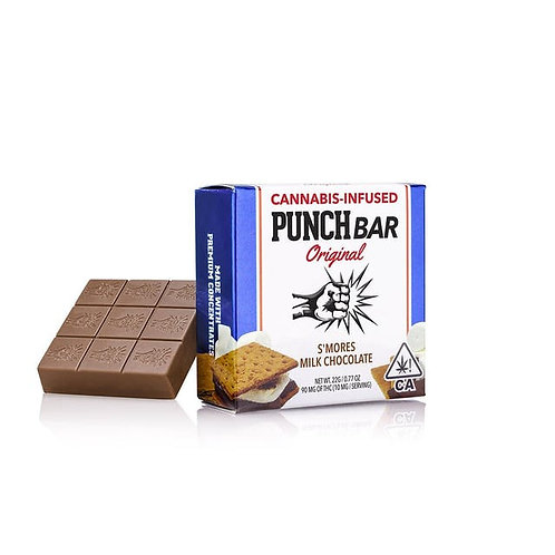 Punch Bar Original S'mores Milk Chocolate 90mg THC