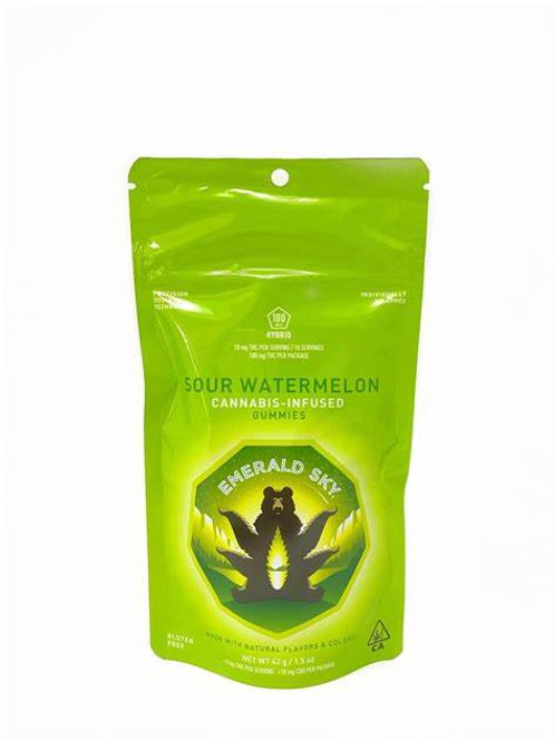 Emerald Sky Gummy Sour Watermelon (Hybrid) 100mg THC