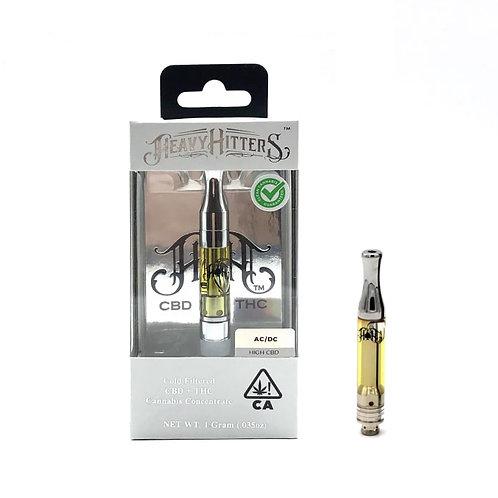 Heavy Hitters Cartridge CBD 1:1 AC/DC 1g (41.94%CBD:41.52%THC)