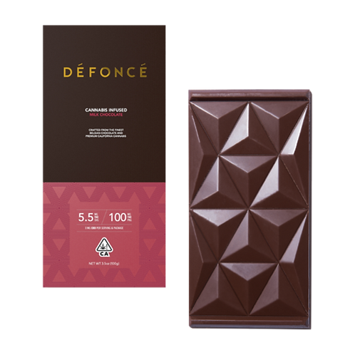 Defonce Milk Chocolate Bar 100mgTHC