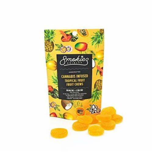 Smokiez Fruit Chews Tropical Fruit 100mgTHC