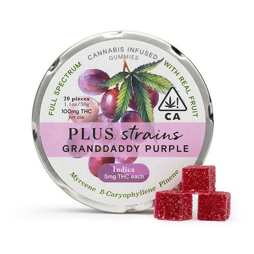 Plus Gummies Strains Granddaddy Purple 100mgTHC