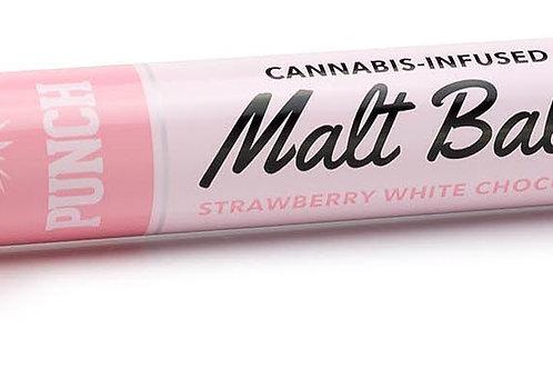 Punch Malt Balls Strawberry White Chocolate 90mg THC