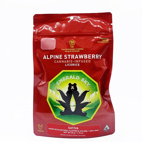 Emerald Sky Licorice - Alpine Strawberry (Sativa) 100mg THC