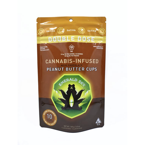 Emerald Sky Peanut Butter Cups 10-Pack (Sativa) 100mgTHC