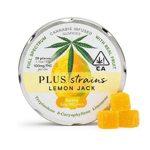 Plus Gummies Strains Lemon Jack 100mgTHC