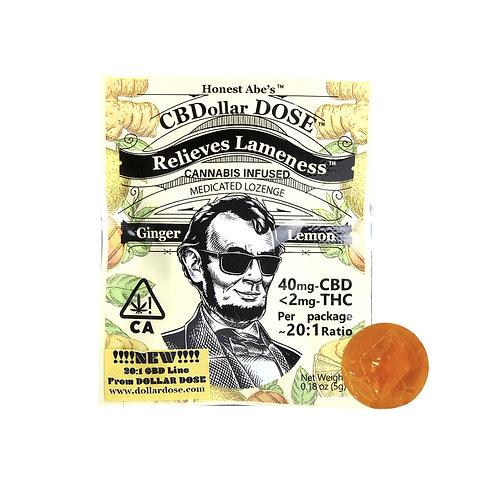 Dollar Dose Lozenge 20:1 Lemon Ginger 40mgCBD