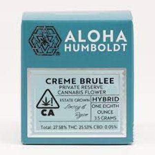 Aloha Humboldt Sungrown Creme Brulee 3.5g (27.58%THC)