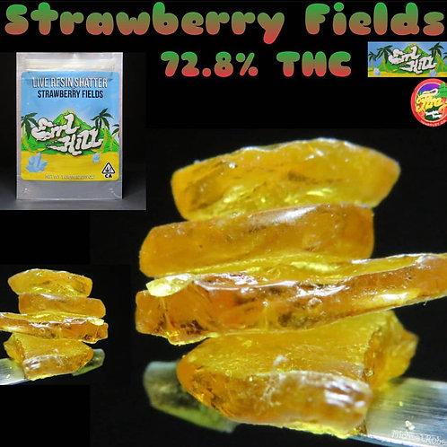 Errl Hill Live Resin Shatter Strawberry Fields 1g (72.87%THC)