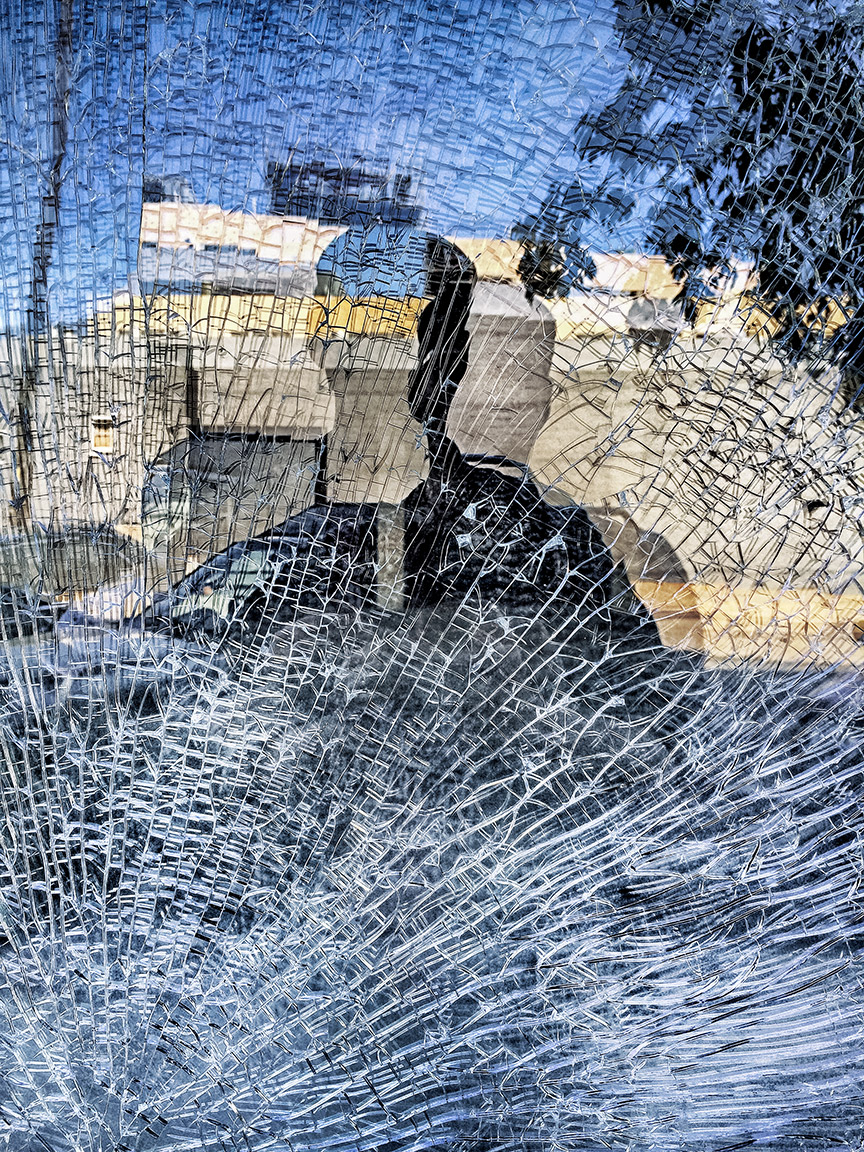 Shattered Window Self-Portrait