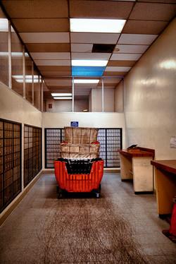 Red Postal Cart