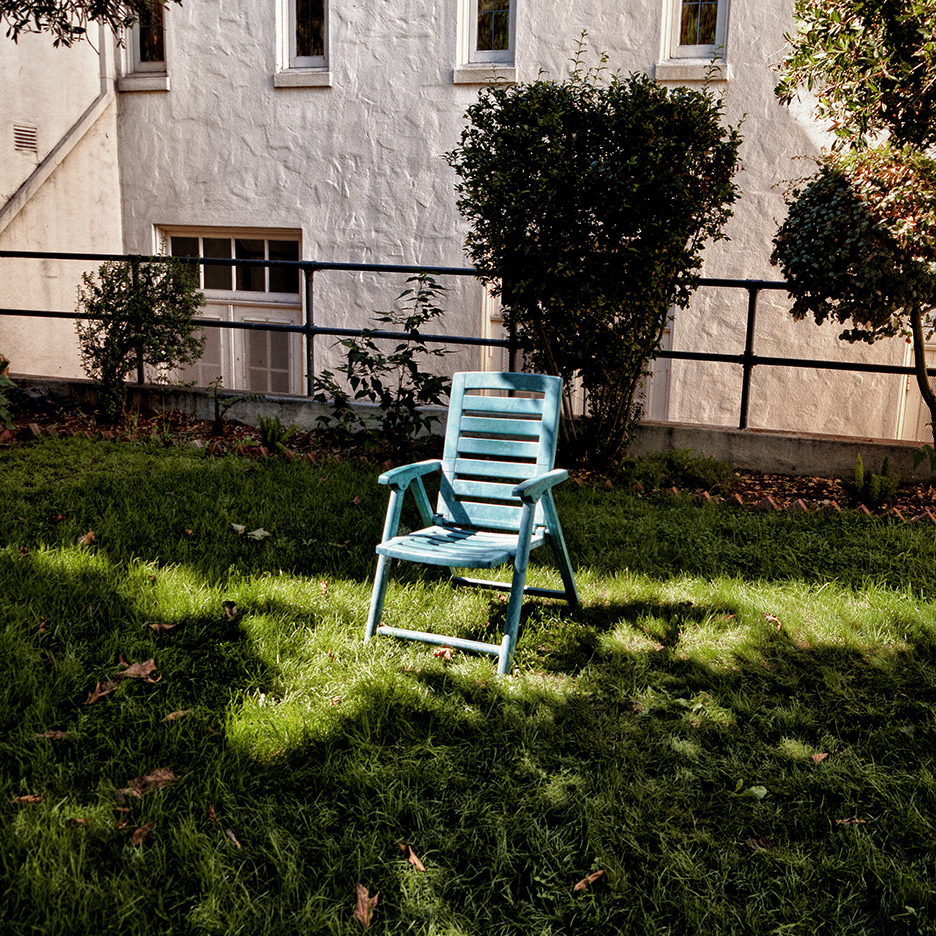 Blue Chair in Sun