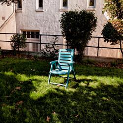 Blue Chair in Sun