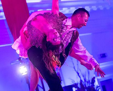 entertainment tijdens diner acrobatiek