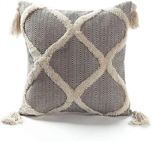 Black Woven Moroccan Pillow cover