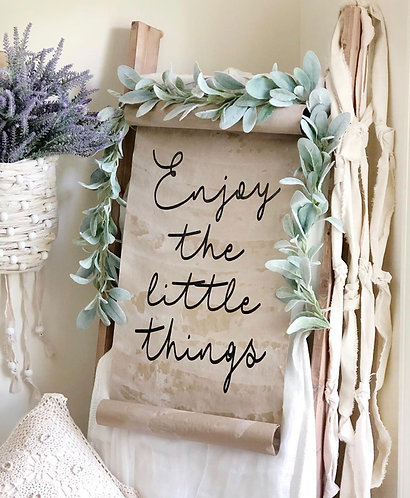 Enjoy the Little Things Paper Scroll