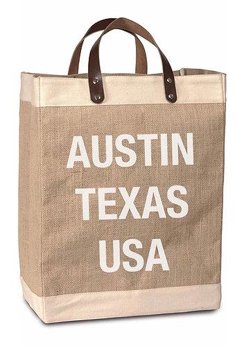 City State USA Burlap Market Bag