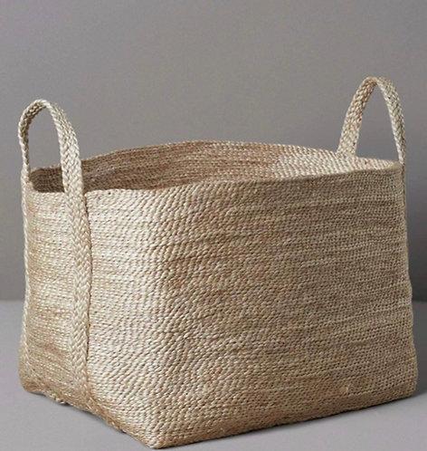 Natural Woven Jute Storage Basket