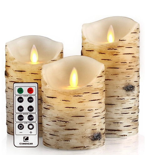 Flickering Burch Flameless Candle Set