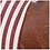 Thumbnail: Ticking Striped Faux Leather Pillow Cover