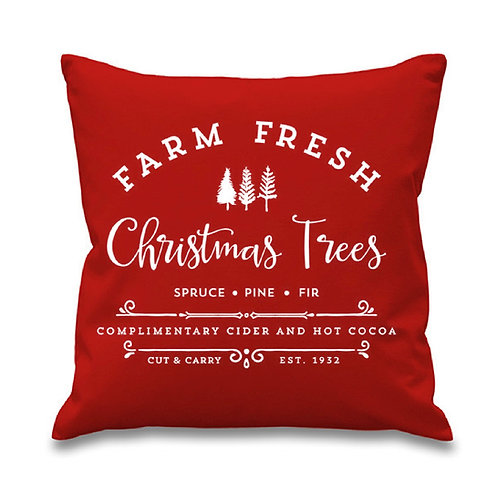 Farm Fresh Christmas Trees Pillow Cover