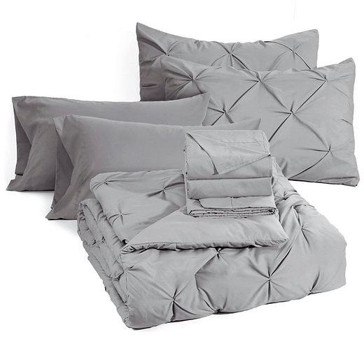 Pintuck Comforter Set, (8 pc)