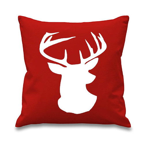 Reindeer Silhouette Pillow Cover