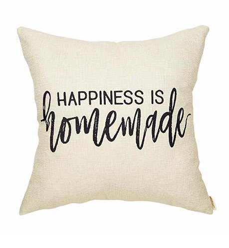 """""""Happiness is Handmade"""" Pillow Cover"""