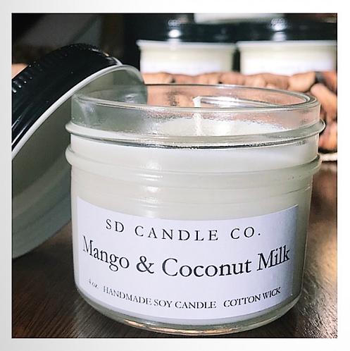 Mango & Coconut Milk Soy Candle