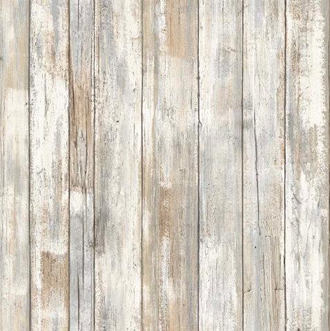 Distressed Wood Peel & Stick Wallpaper