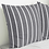 Thumbnail: Roma Gray Striped Pillow Cover, Set of 2