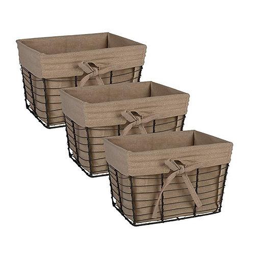 Decorative Storage Basket Set of 3