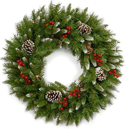 Pre-Lit Christmas Wreath