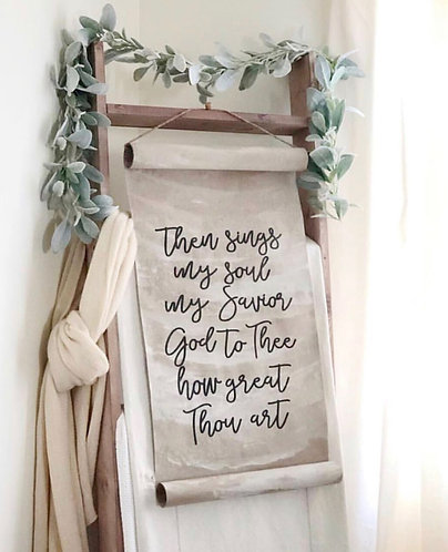 How Great Thou Art Paper Scroll