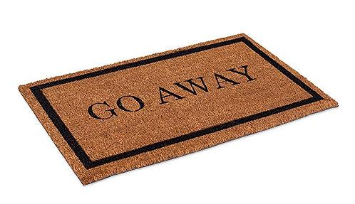 """""""Go Away"""" Doormat"""