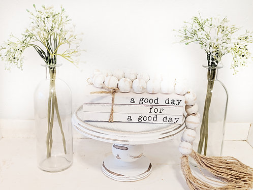 """""""A Good Day"""" Hand-Stamped Book Set"""