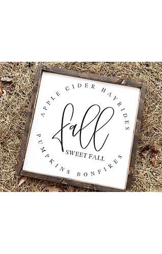 """""""Fall Sweet Fall"""" Farmhouse Sign"""