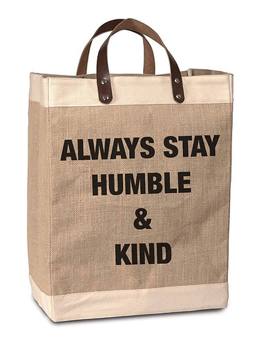 Humble & Kind Burlap Market Bag