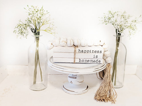 """""""Happiness Is Homemade"""" Hand-Stamped Book Set"""