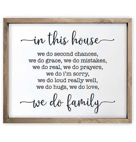 In This House Farmhouse Sign