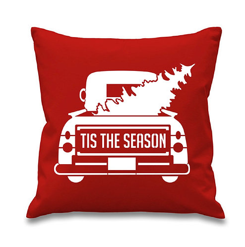 'Tis the Season Truck Pillow Cover