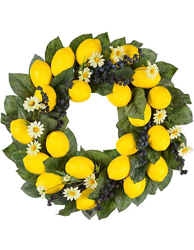 Lemon & Berries Wreath